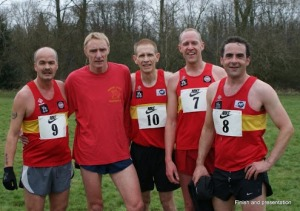 Members of the successful Coventry Godiva Harriers