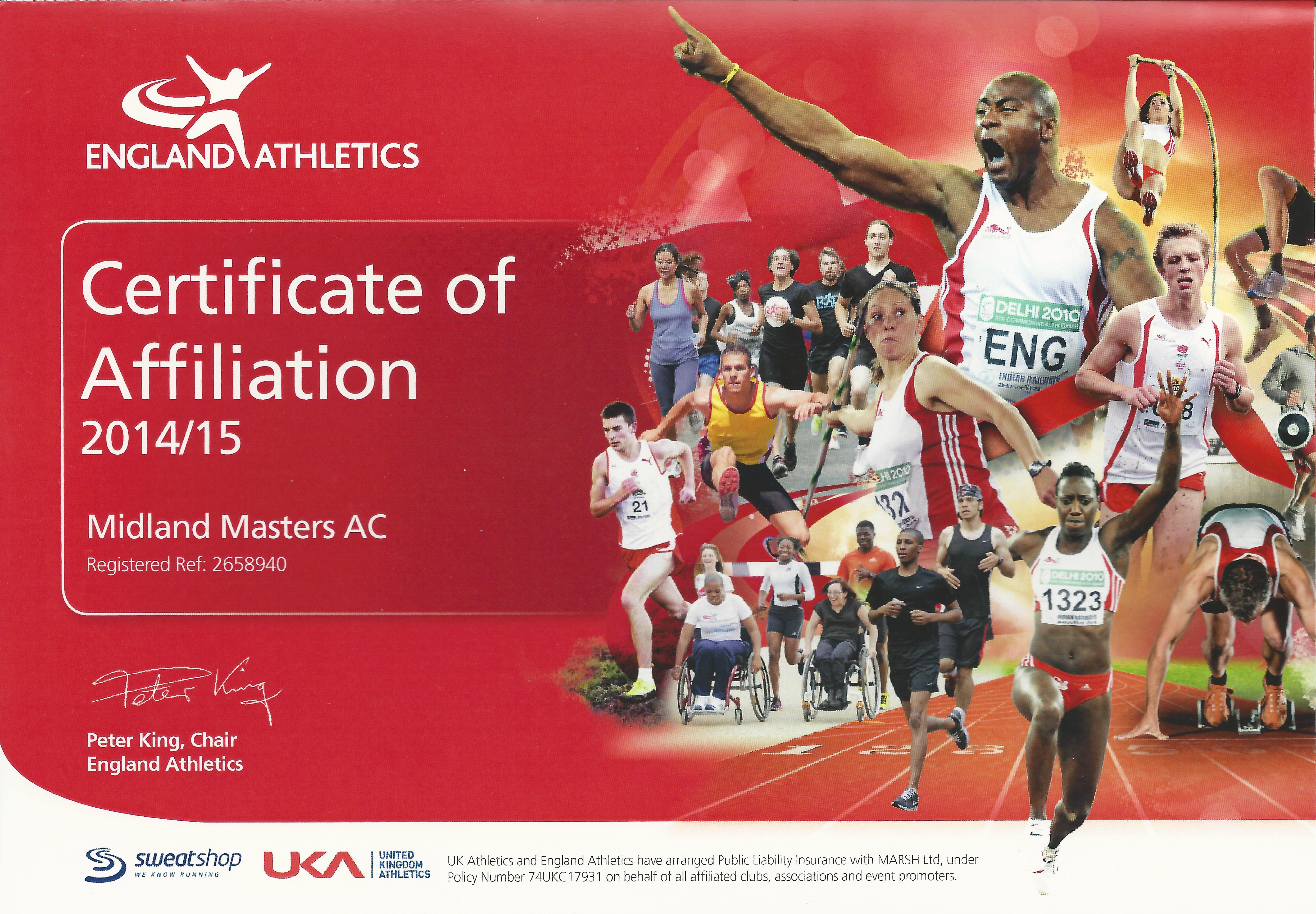 affiliation certificate 2014 2015 midland masters athletic club